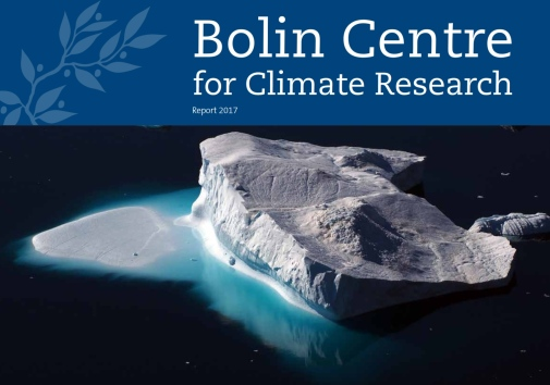 Cover of Bolin Centre Annual Report 2017